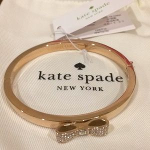 NWT Kate Spade Ready, Set, Bow Bracelet.Rose Gold.